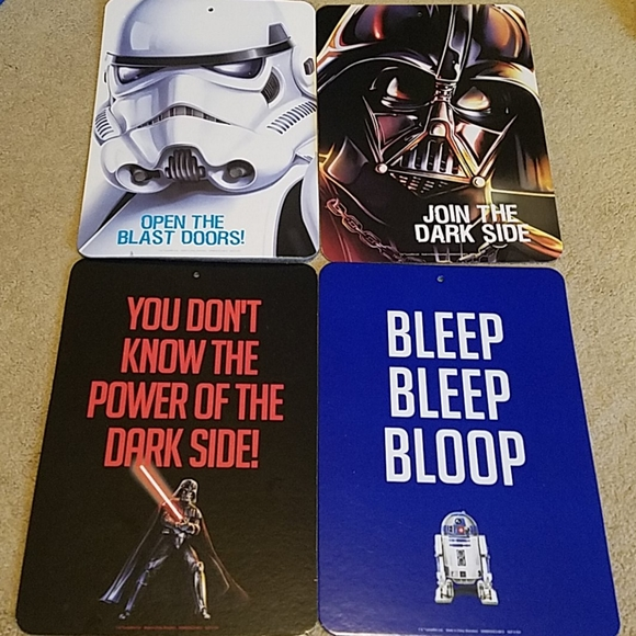 Star Wars Other - Star Wars set of 4 press board wall art